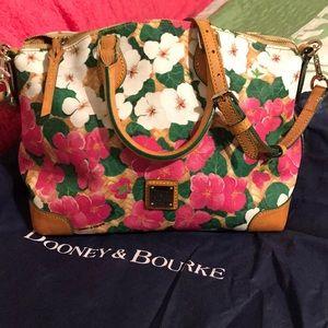 Like New - Dooney & Bourke floral satchel